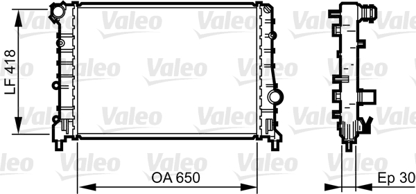 Radiateur, refroidissement du moteur - VALEO - 734283