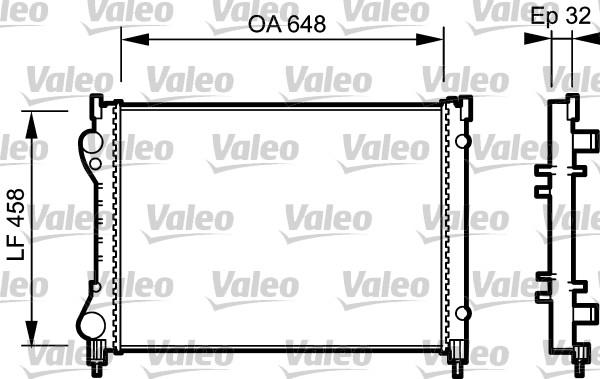 Radiateur, refroidissement du moteur - VALEO - 734284