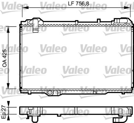 Radiateur, refroidissement du moteur - VALEO - 734285
