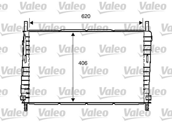 Radiateur, refroidissement du moteur - VALEO - 734286