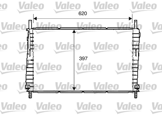 Radiateur, refroidissement du moteur - VALEO - 734287