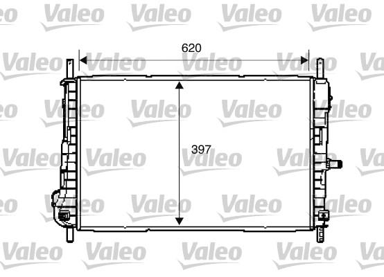Radiateur, refroidissement du moteur - VALEO - 734288