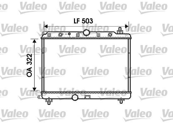 Radiateur, refroidissement du moteur - VALEO - 734290