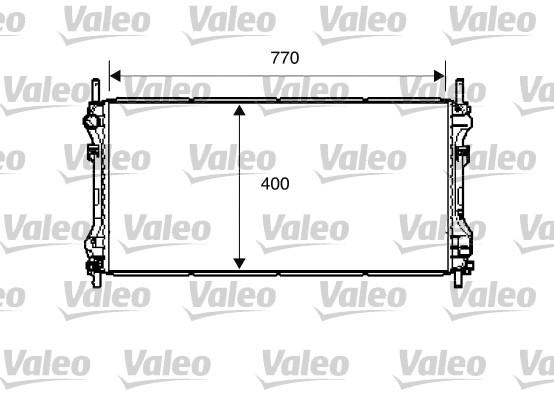 Radiateur, refroidissement du moteur - VALEO - 734291