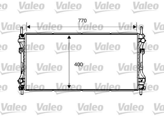 Radiateur, refroidissement du moteur - VALEO - 734292