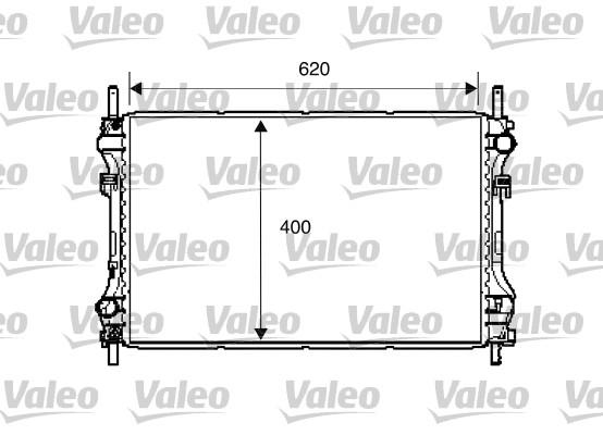 Radiateur, refroidissement du moteur - VALEO - 734293