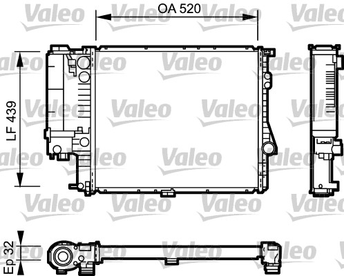 Radiateur, refroidissement du moteur - VALEO - 734301
