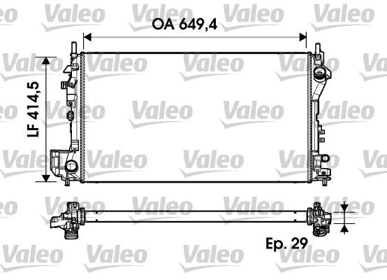 Radiateur, refroidissement du moteur - VALEO - 734302
