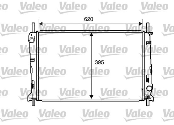 Radiateur, refroidissement du moteur - VALEO - 734303