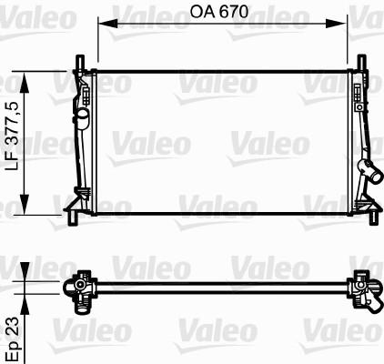 Radiateur, refroidissement du moteur - VALEO - 734320