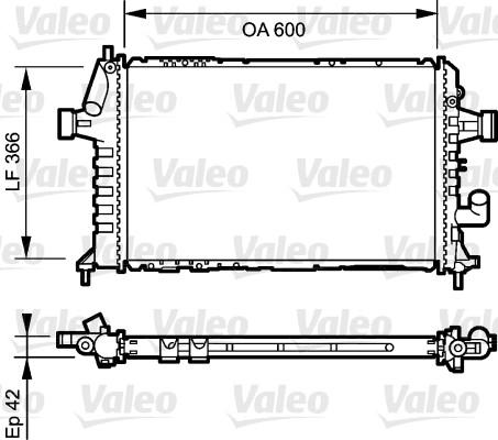Radiateur, refroidissement du moteur - VALEO - 734322