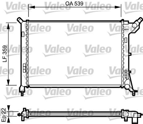 Radiateur, refroidissement du moteur - VALEO - 734326