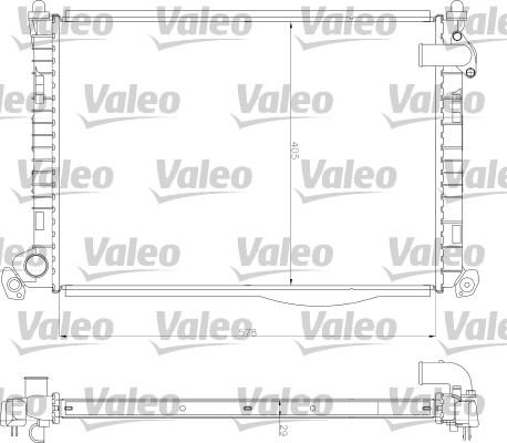 Radiateur, refroidissement du moteur - VALEO - 734327