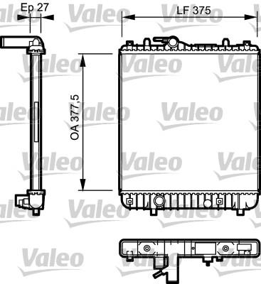 Radiateur, refroidissement du moteur - VALEO - 734330