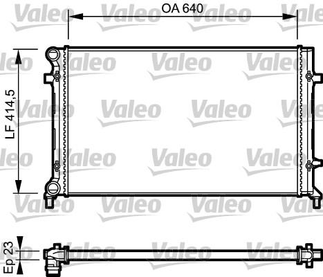 Radiateur, refroidissement du moteur - VALEO - 734332