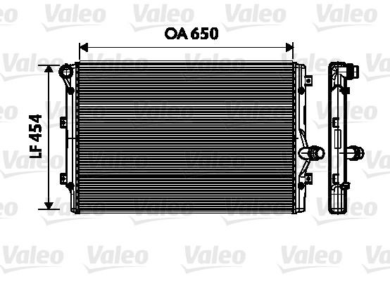 Radiateur, refroidissement du moteur - VALEO - 734333