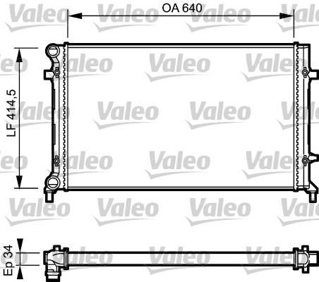 Radiateur, refroidissement du moteur - VALEO - 734335