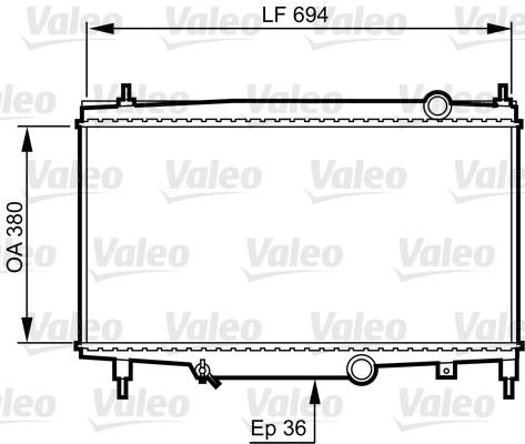 Radiateur, refroidissement du moteur - VALEO - 734336