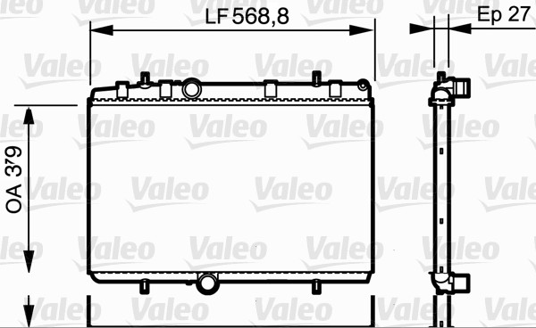 Radiateur, refroidissement du moteur - VALEO - 734338