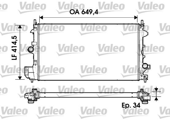 Radiateur, refroidissement du moteur - VALEO - 734339