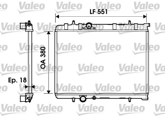 Radiateur, refroidissement du moteur - VALEO - 734346