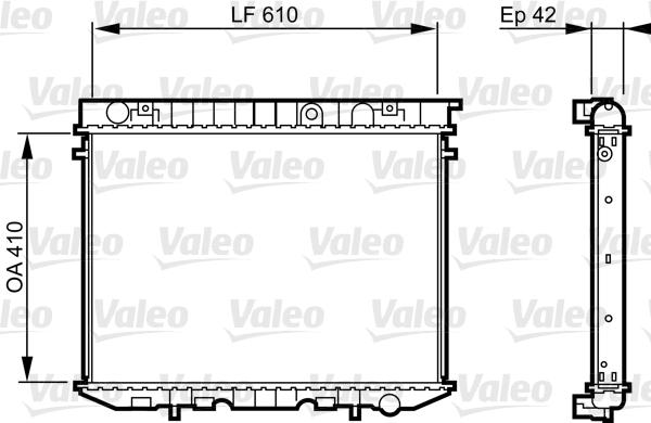 Radiateur, refroidissement du moteur - VALEO - 734353