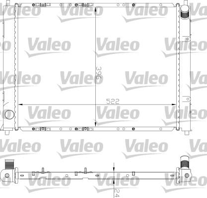 Radiateur, refroidissement du moteur - VALEO - 734354