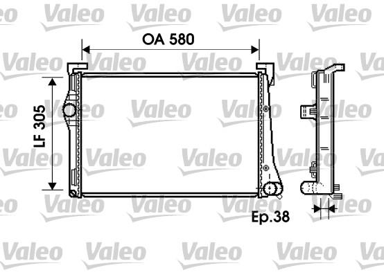 Radiateur, refroidissement du moteur - VALEO - 734361