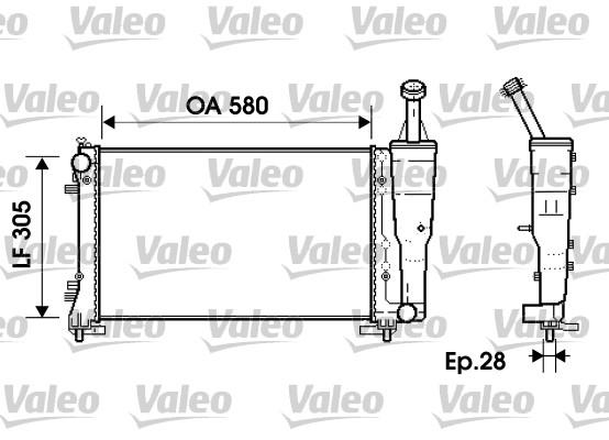 Radiateur, refroidissement du moteur - VALEO - 734362