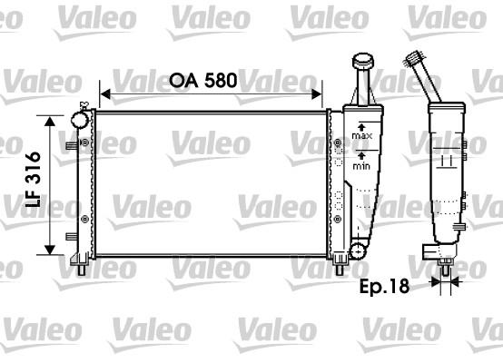 Radiateur, refroidissement du moteur - VALEO - 734363