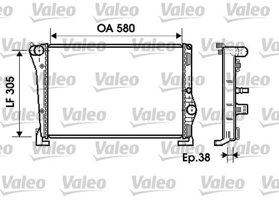 Radiateur, refroidissement du moteur - VALEO - 734364