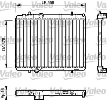 Radiateur, refroidissement du moteur - VALEO - 734366