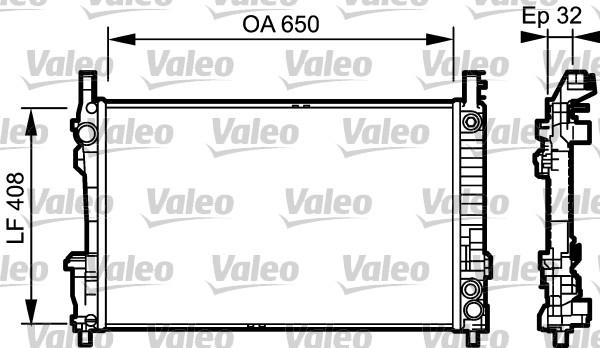Radiateur, refroidissement du moteur - VALEO - 734379