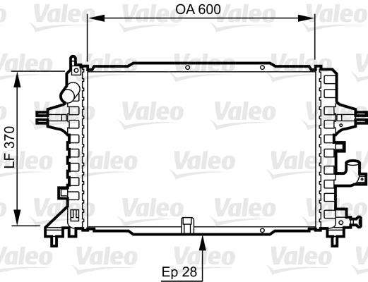 Radiateur, refroidissement du moteur - VALEO - 734380