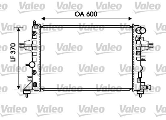 Radiateur, refroidissement du moteur - VALEO - 734381