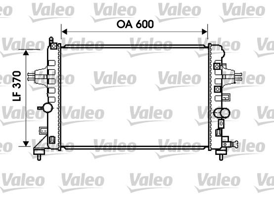 Radiateur, refroidissement du moteur - VALEO - 734382