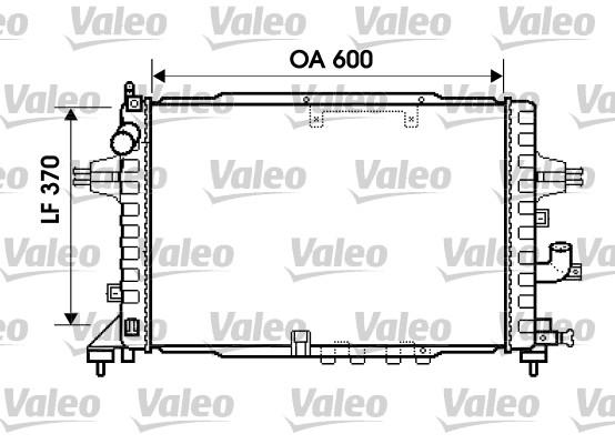 Radiateur, refroidissement du moteur - VALEO - 734383
