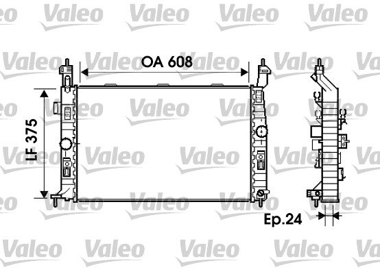 Radiateur, refroidissement du moteur - VALEO - 734384