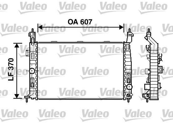Radiateur, refroidissement du moteur - VALEO - 734385