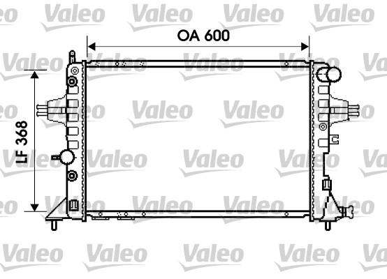 Radiateur, refroidissement du moteur - VALEO - 734388