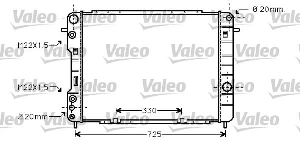 Radiateur, refroidissement du moteur - VALEO - 734389