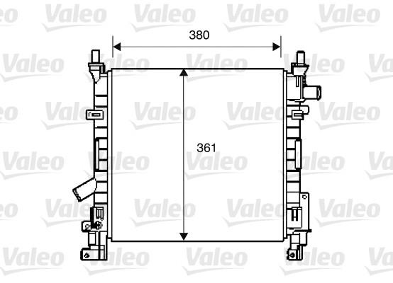 Radiateur, refroidissement du moteur - VALEO - 734392