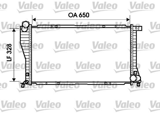 Radiateur, refroidissement du moteur - VALEO - 734394