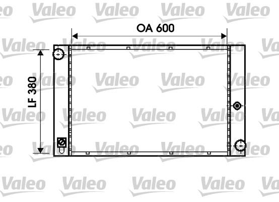 Radiateur, refroidissement du moteur - VALEO - 734395