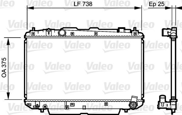 Radiateur, refroidissement du moteur - VALEO - 734397