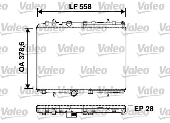Radiateur, refroidissement du moteur - VALEO - 734398