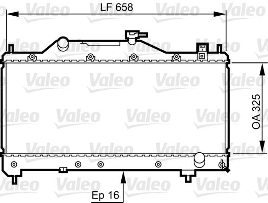 Radiateur, refroidissement du moteur - VALEO - 734401
