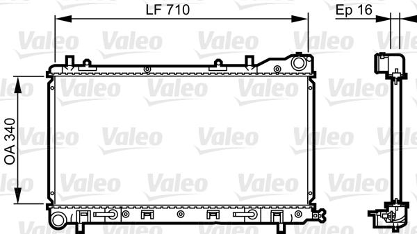 Radiateur, refroidissement du moteur - VALEO - 734405
