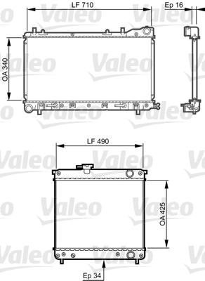 Radiateur, refroidissement du moteur - VALEO - 734406