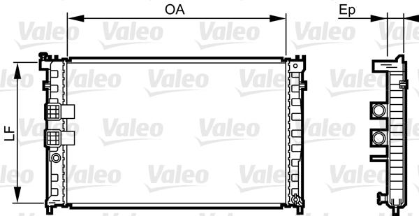 Radiateur, refroidissement du moteur - VALEO - 734411